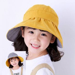 Fisherman hat female spring and summer Korean style trendy wild fashion small fresh and sweet hat double-sided children's net red