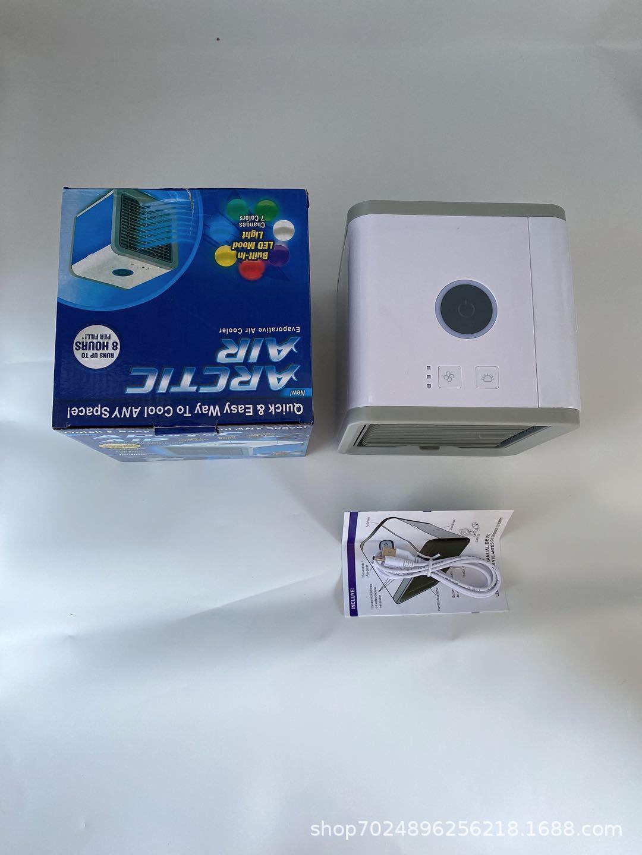 新款USB迷你制冷空调家用桌面小型冷风机便携移动加湿水冷电风扇