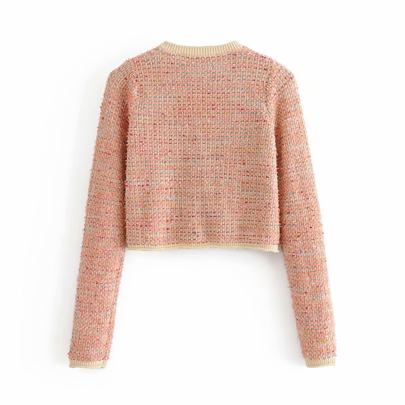 wholesale autumn small fragrance women's knitted cardigan jacket NSAM4255