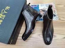 2020新款男皮靴切尔西靴男士真皮皮靴英伦欧式皮靴商务男靴子百搭