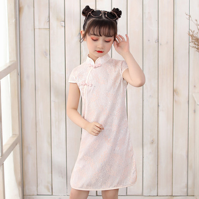 Cheongsam for kids Girls retro cheongsam dress vest skirt children Chinese Dress national Tang Qipao