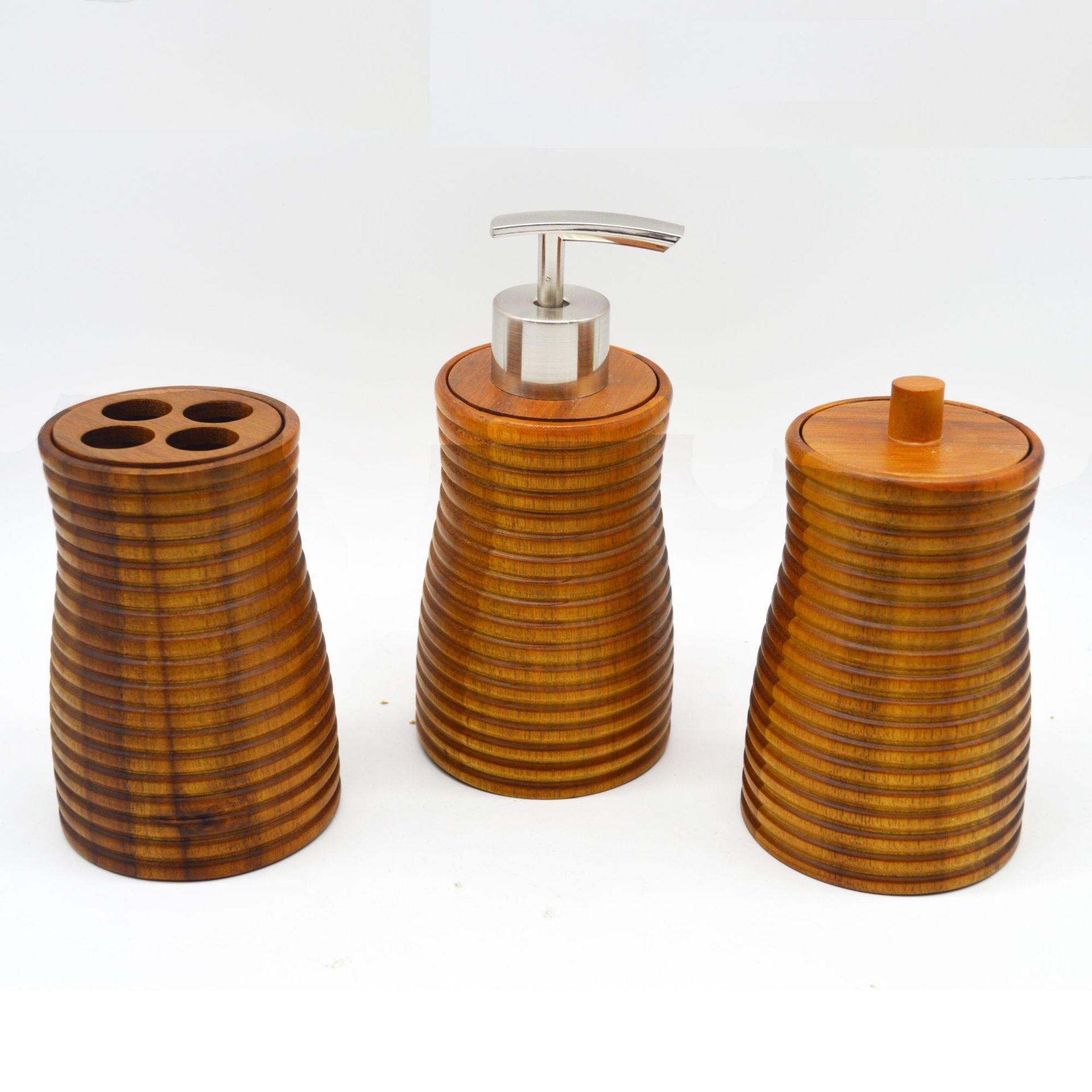 创意卫浴四件套 竹制酒店卫浴用品,木制卫浴组,竹木卫浴套装