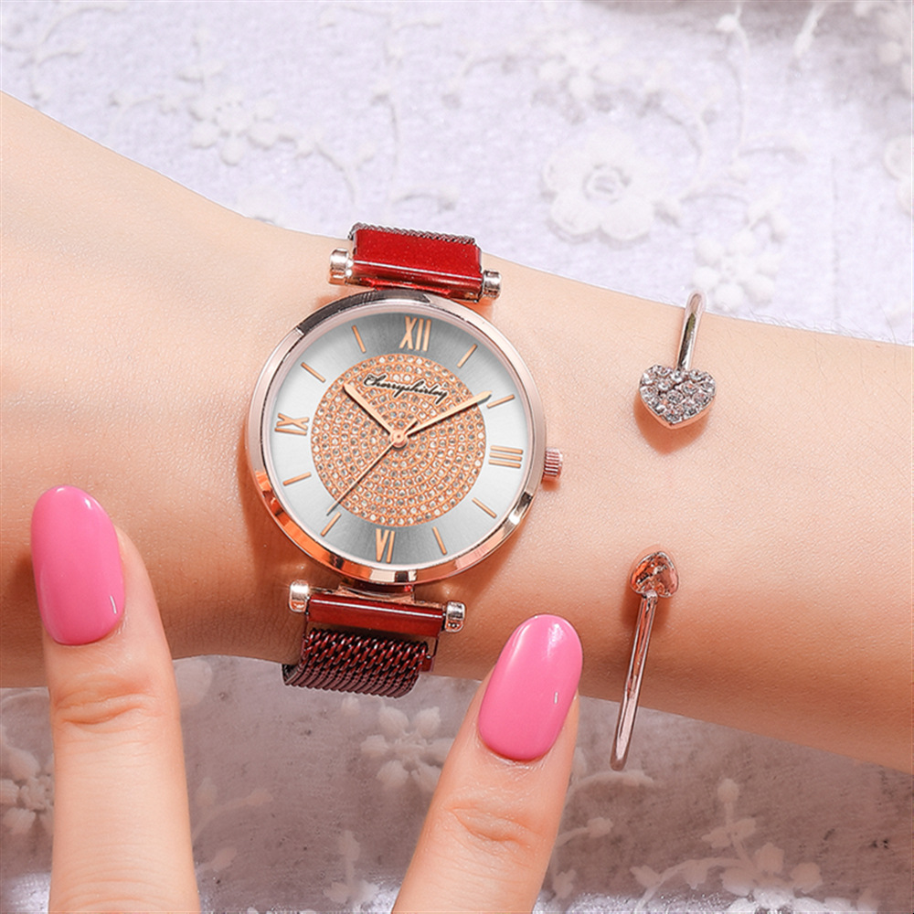 Roman scale starry ladies magnet fashion trend Milan with quartz ladies hand watch NHSY266959