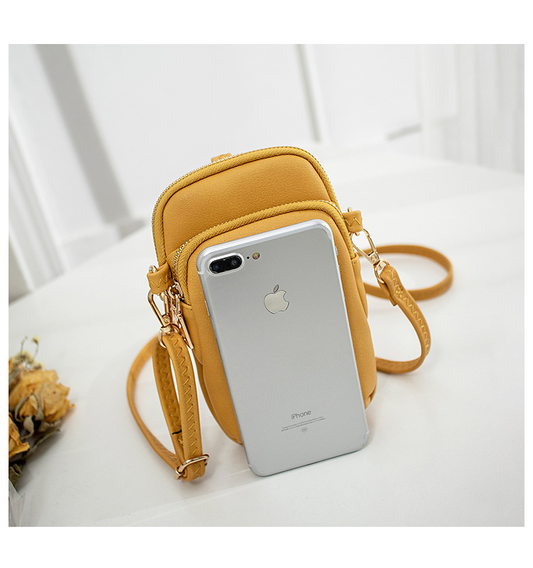Korean pure color messenger mobile phone bag NHLAN337343