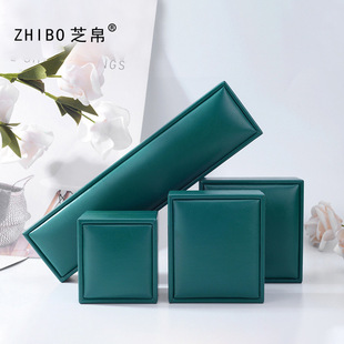 Tongxing Emerald Green Pu Leather Jewelry Jewelry Box Ring Ring Earring Necklace Bracelet Bracelet Gift Box
