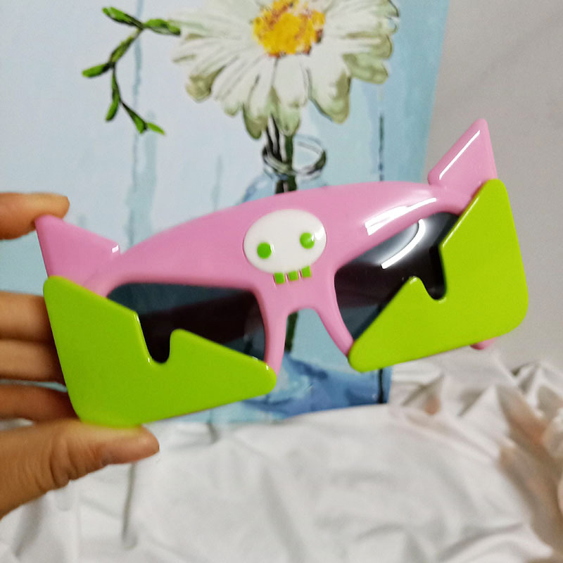 Childrens cute cartoon little flying pig silicone polarized square sunglasses wholesale nihaojewelry NHBA244865
