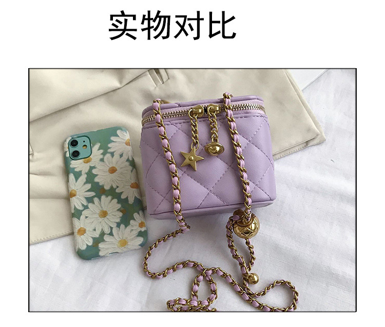 Fashion rhombic chain messenger shoulder bag NHLH332050
