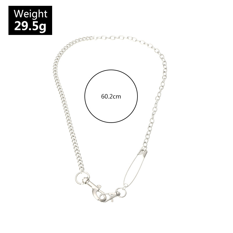 fashion jewelry hippop exaggerated pin necklace street hip hop jumping original jewelry wholesale nihaojewelry NHNZ234134