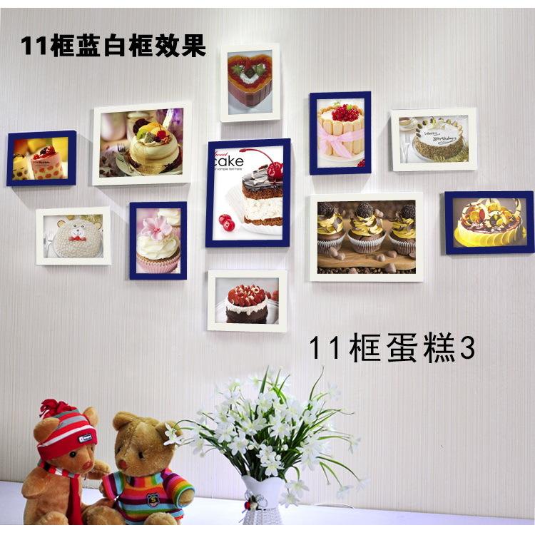 咖啡厅装饰画 蛋糕面包店挂画 餐厅墙画甜品店壁画照片墙相框组合
