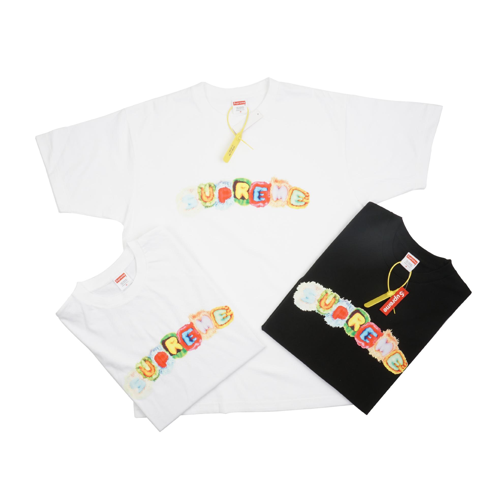 2020夏季新款Pillows Tee七彩糖果彩虹枕头抱枕男女情侣款短袖T恤