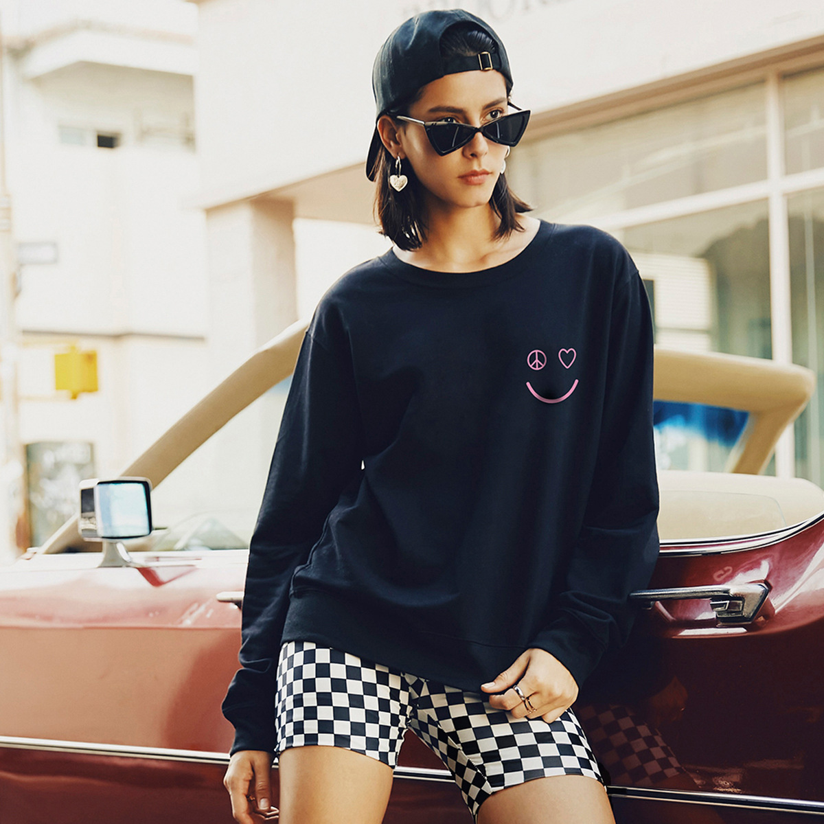 new autumn and winter women's round neck long sleeve street casual sweater wholesale NSSN308
