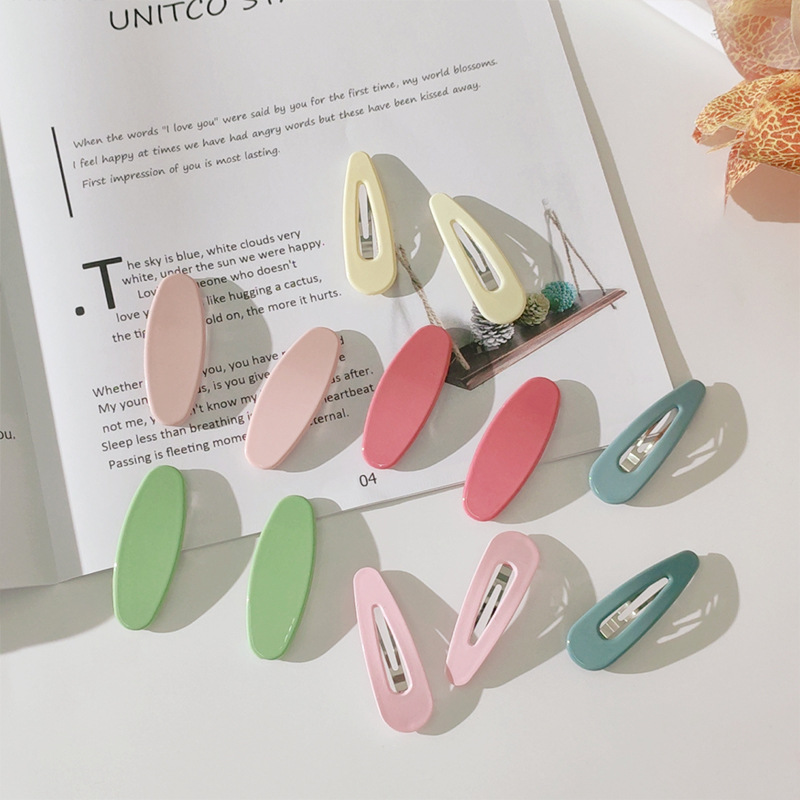geometric hairpin frosted texture bangs clip hairpin simple side clip hair accessories wholesale nihaojewelry NHNZ221180