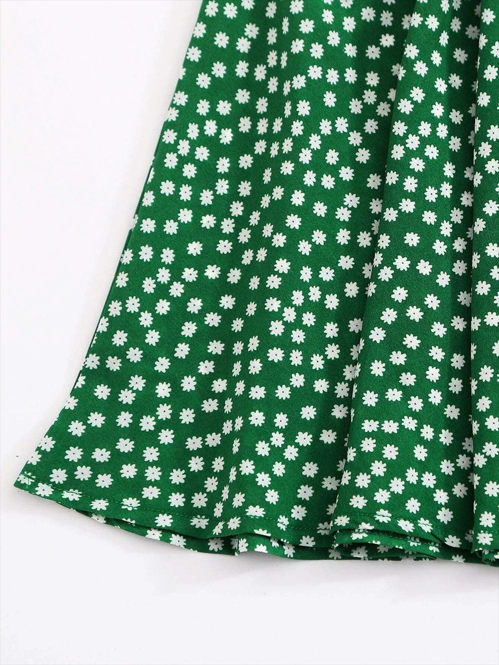 summer new hot sale green pleated ruffled half-length floral bandage A-line skirt wholesale nihaojewelry NHDF230478