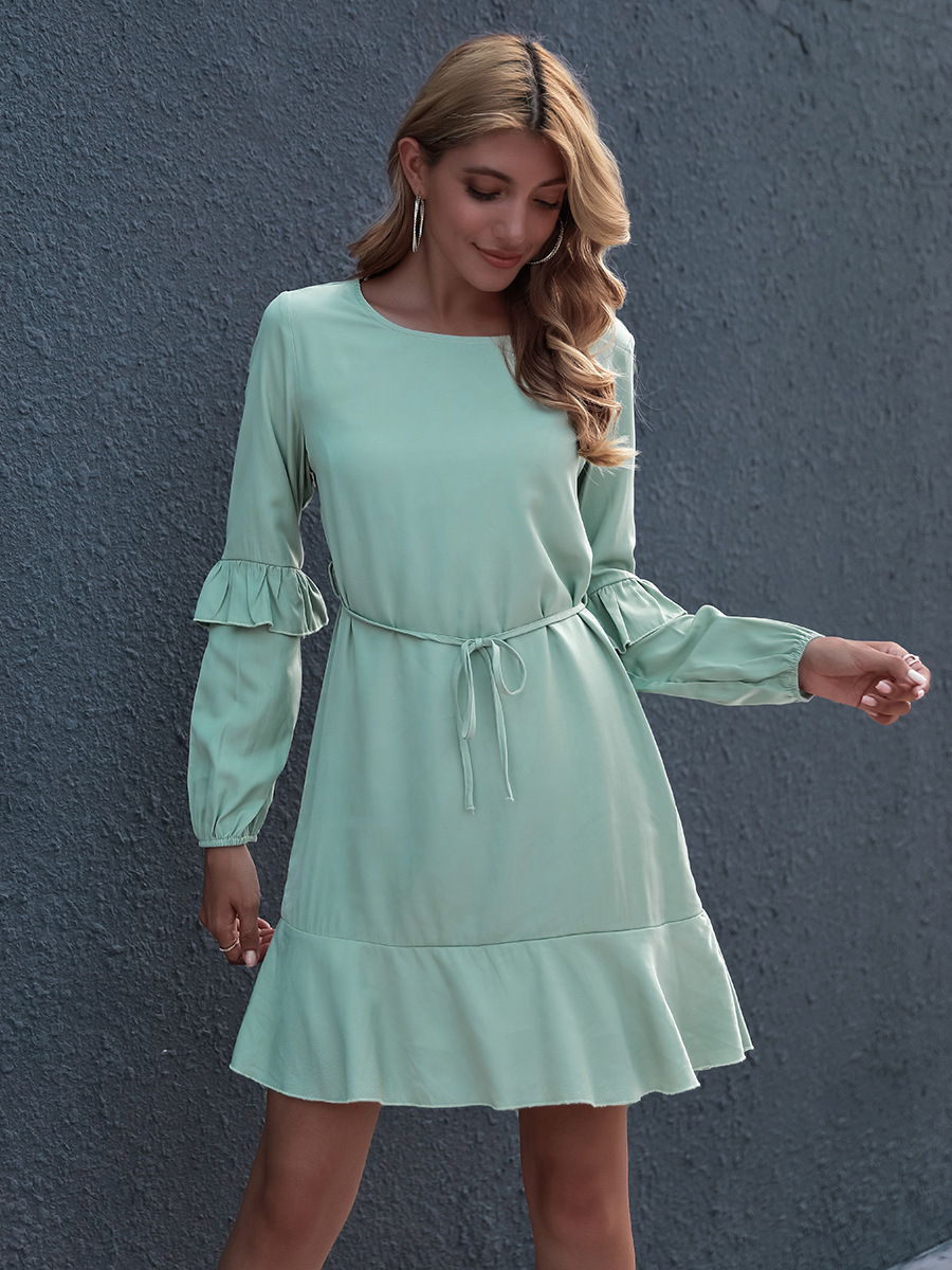 knitted long sleeve dress NSAL1930