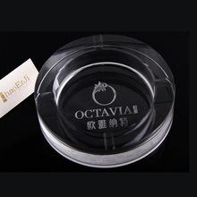 厂家直销k9正圆形水晶烟灰缸 DIY定制logo 烟酒卫浴广告促销礼品