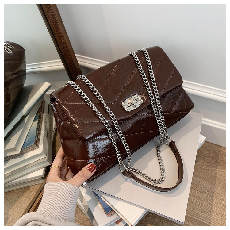 women new autumn and winter fashion shoulder underarm messenger small square bag NHTC271696