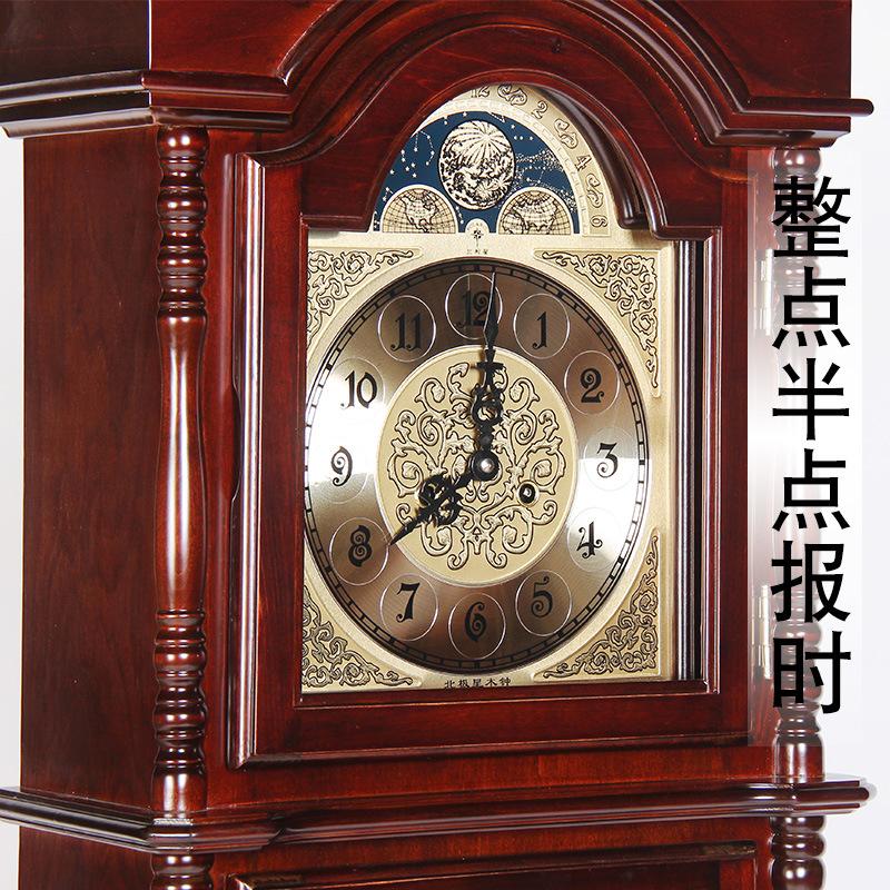 欧式别墅奢华立式钟表客厅中式复古座钟实木机械钟复古落地钟摆钟