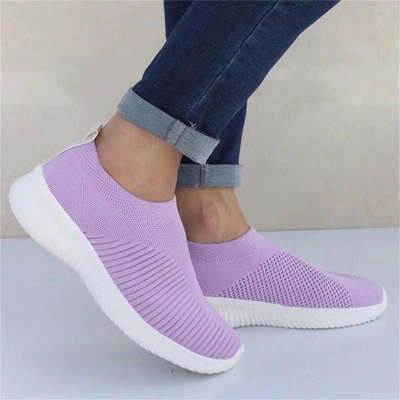 flying woven socks shoes stretch cloth increased women shoes