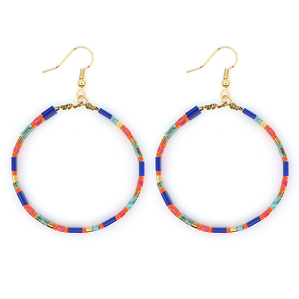 New fashion boho female earrings tila beaded ethnic style earrings wholesale NHGW205970