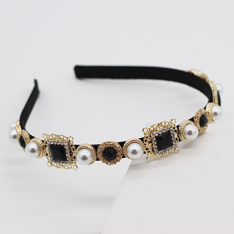 Fashion hair band butterfly diamond diamond gem cheap hair band NHWJ207363