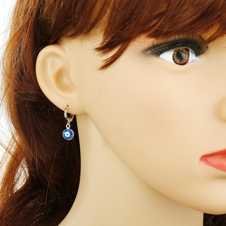 New Fashion Devil's Eye Turkish Blue Eye Drop Earrings Wholesale NHGO210857