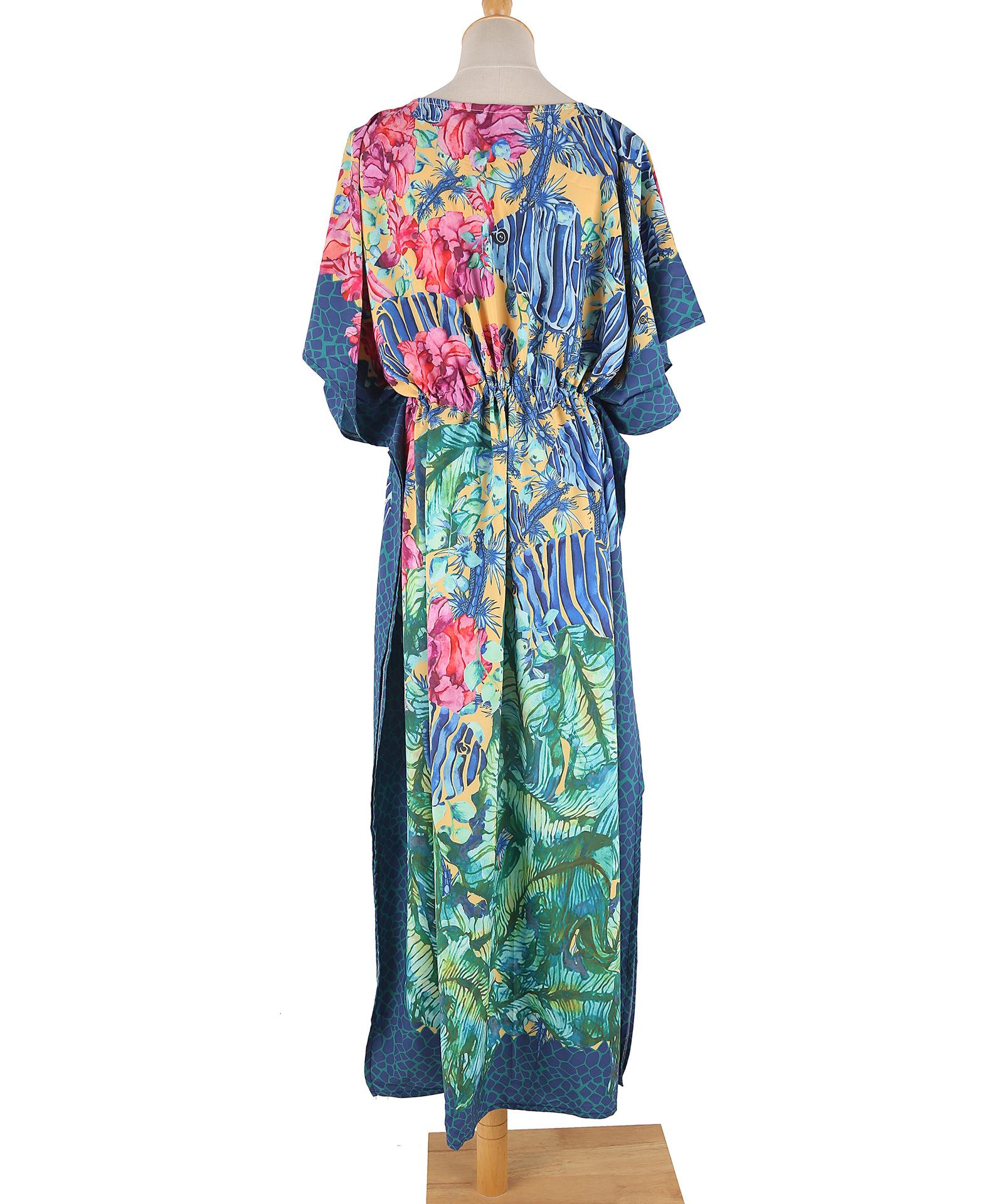 The new dark green robe beach dress sunscreen beach vacation bikini blouse wholesale nihaojewelry NHXW243951