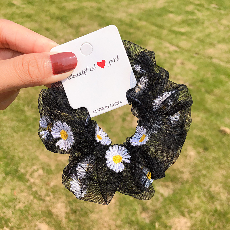 The new transparent mesh yarn Daisy sweet cheap scrunchies wholesale NHNA212648