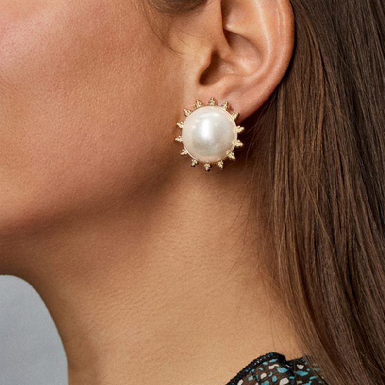 Fashion earrings new simple pearl earrings for women wholesale NHJQ202640