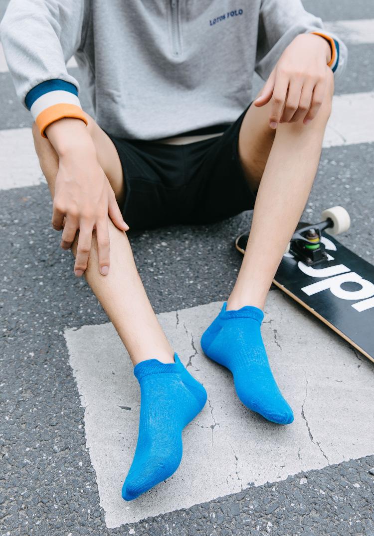 men's tide socks in tube socks hip hop men's socks white boat socks NSFN4090