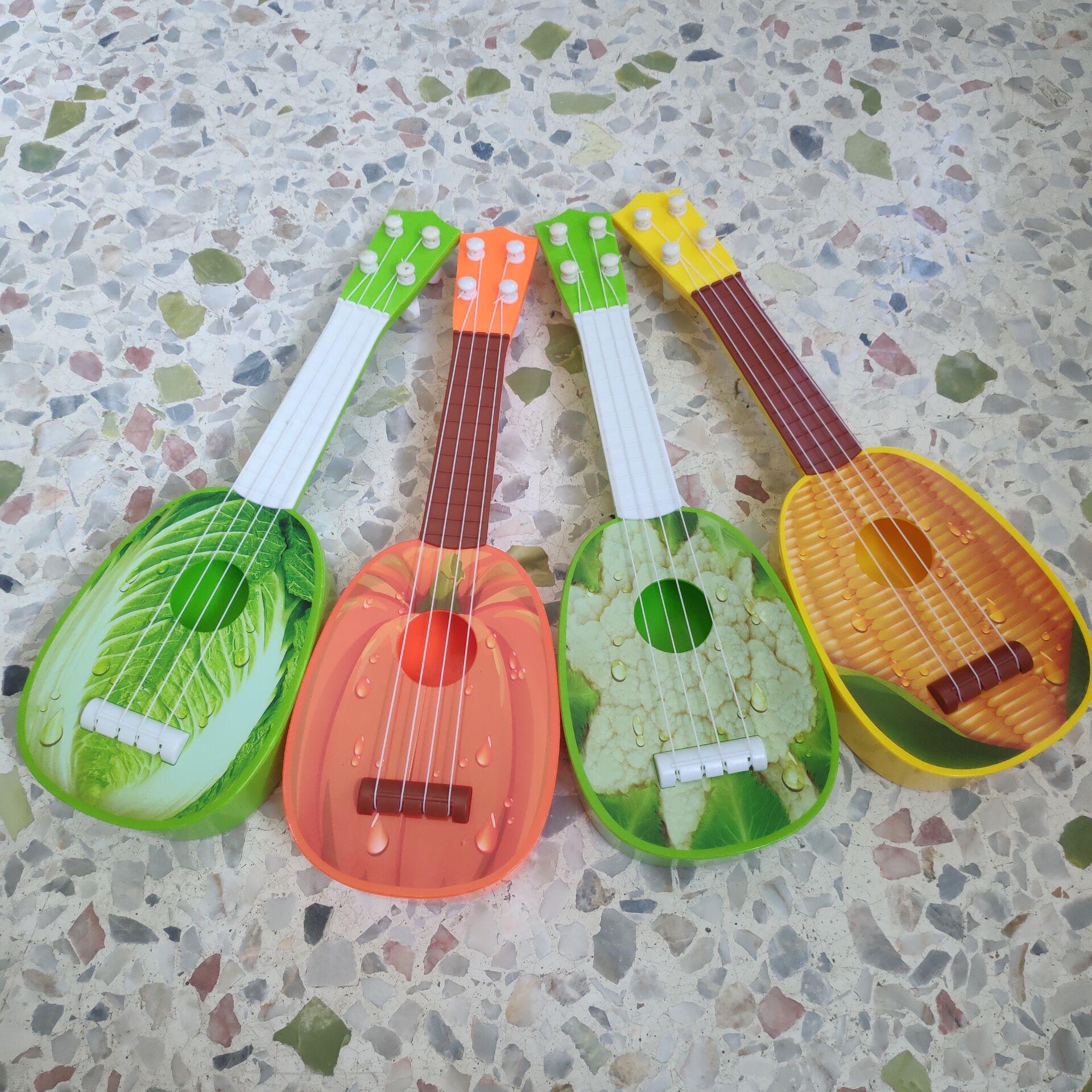 儿童仿真水果吉他玩具早教乐器卡通尤克里里乌克丽丽礼品赠品玩具