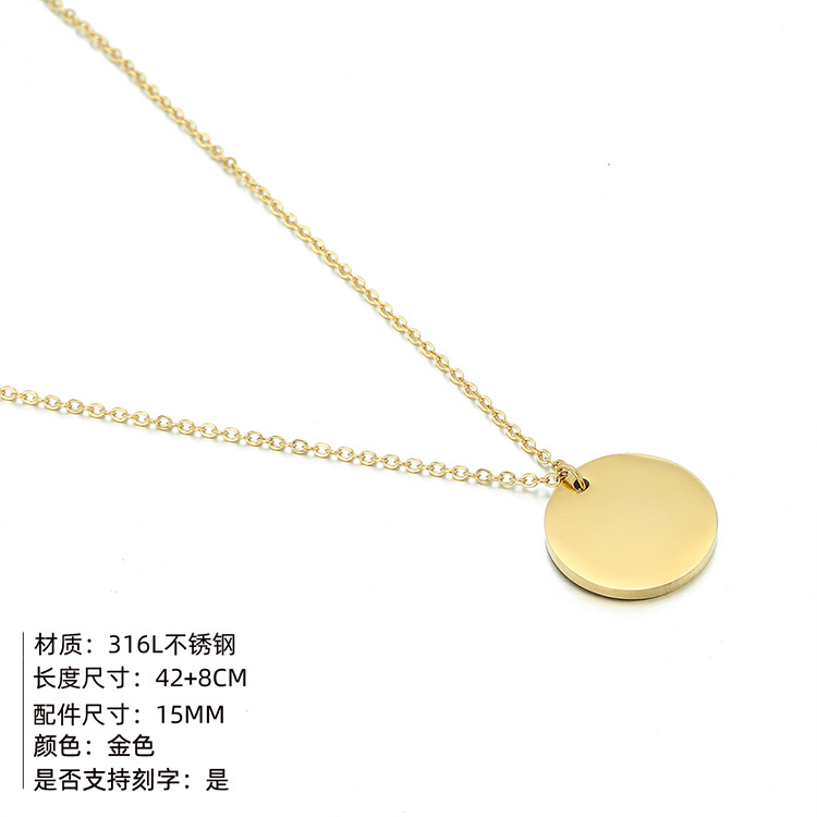 fashion simple new titanium steel tide  lettering pendant clavicle necklace for women jewelry NHTF257949
