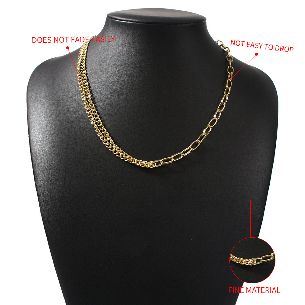 hot selling jewelry alloy exquisite clavicle chain handmade diamond chain necklace wholesale nihaojewelry NHMD238153