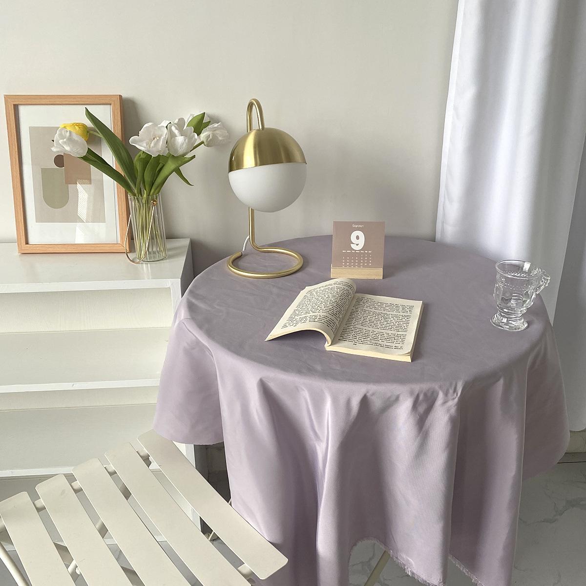 INS温柔的香芋紫复古可可棕软装搭配背景布拍照道具布桌布餐布