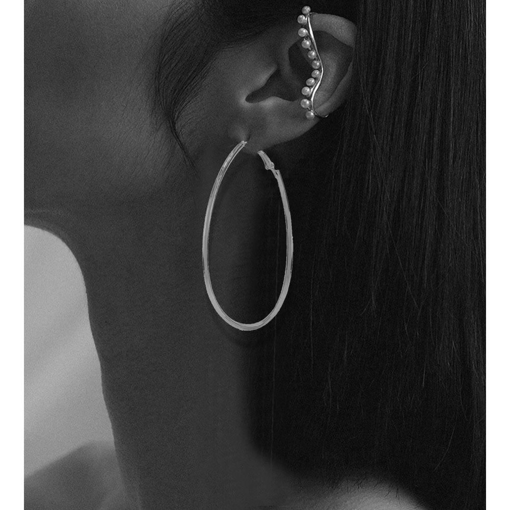 Alloy geometric round five-pointed star silver earrings NHCT264073