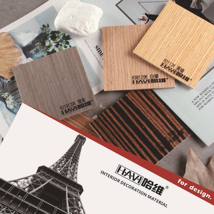 佛山工厂固装定制工程装饰uv免漆木皮饰面kd板科定木饰面板
