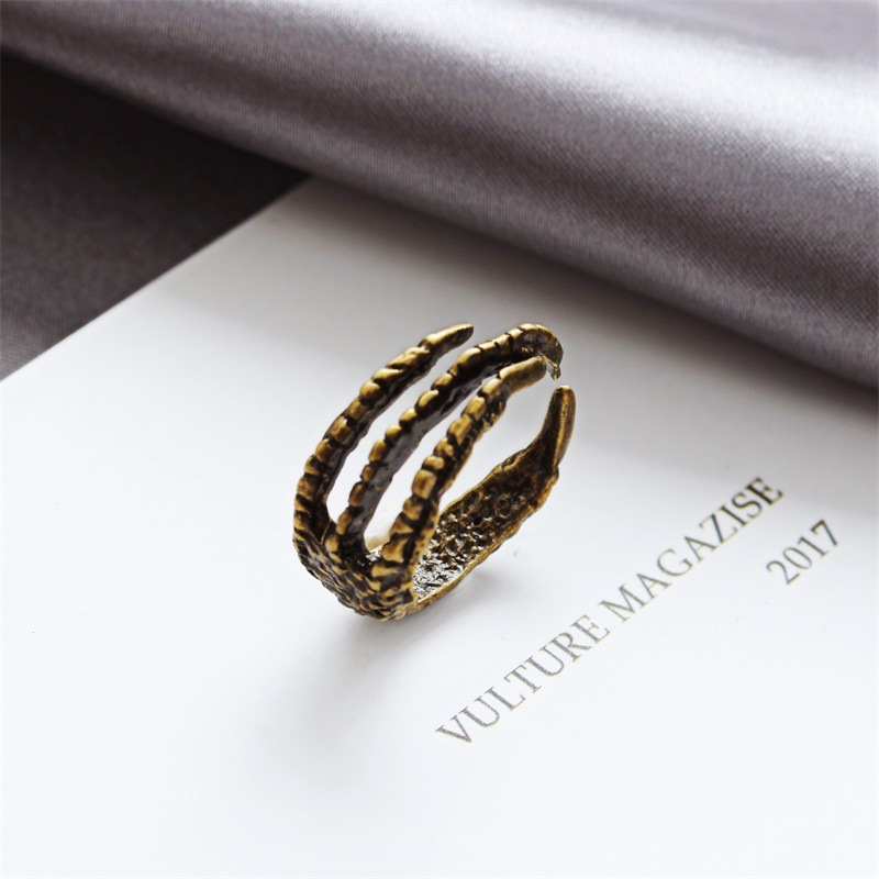 Korean single ring retro eagle claw opening men's pinky tail ring wholesales yiwu suppliers china NHDP202848