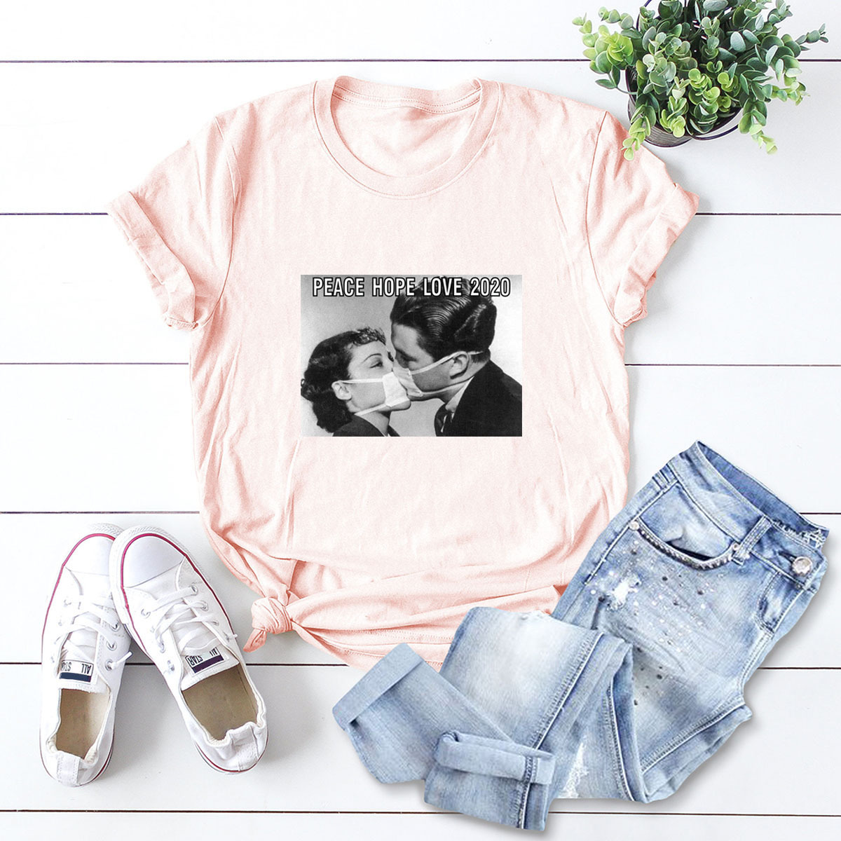 hot Slim Comfortable Casual Large Size Short Sleeve Women's T-shirt NSSN889