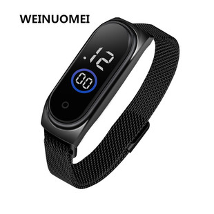Foreign trade explosion models, millet m4led electronic watch, student touch trend magnet, waterproof gift electronic watch
