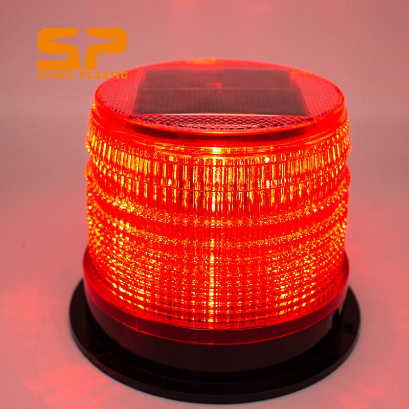 太阳能LED强磁警示灯车载爆闪灯车用警示灯闪灯多色可选吸顶灯