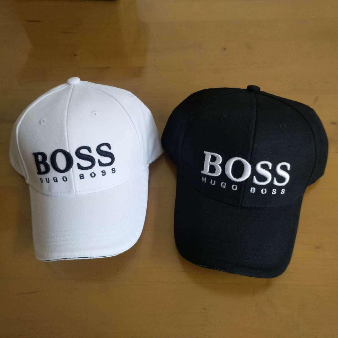 夏季新款棒球帽 男士简约字母刺绣boss鸭舌帽女士百搭遮阳帽