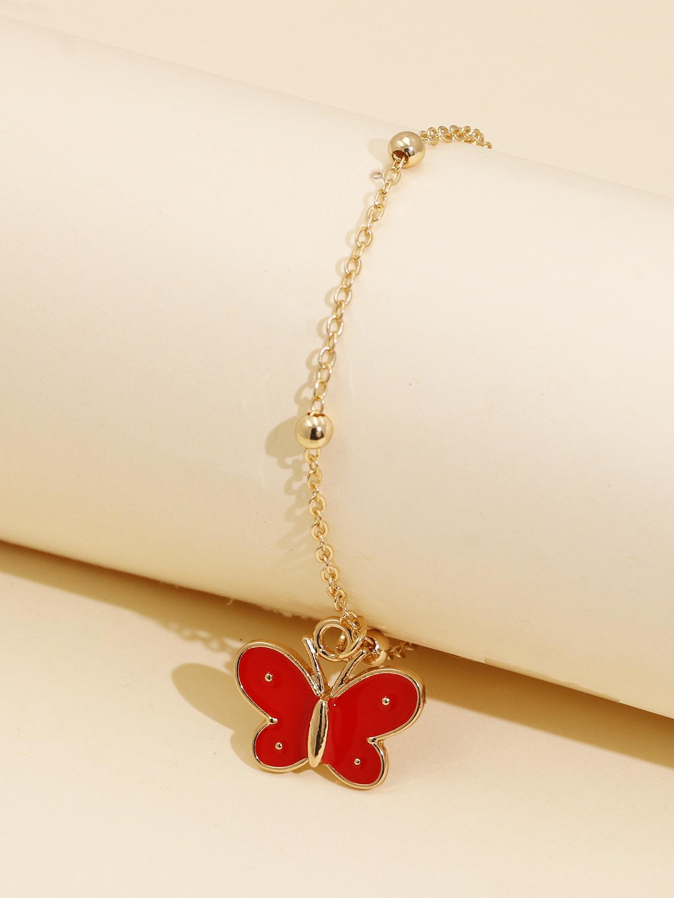 fashion women's butterfly simple bracelet wholesale creative bracelet chain animal bracelet NHJJ218131