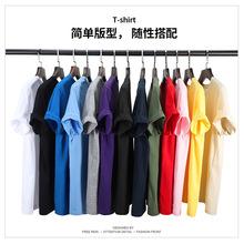 2020年新款精梳全棉短袖男士t恤厂家直销空白圆领短袖广告衫定制