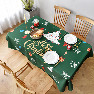 Tablecloth table cloth table cover Christmas table art cotton hemp custom made Nordic modern waterproof and oil proof