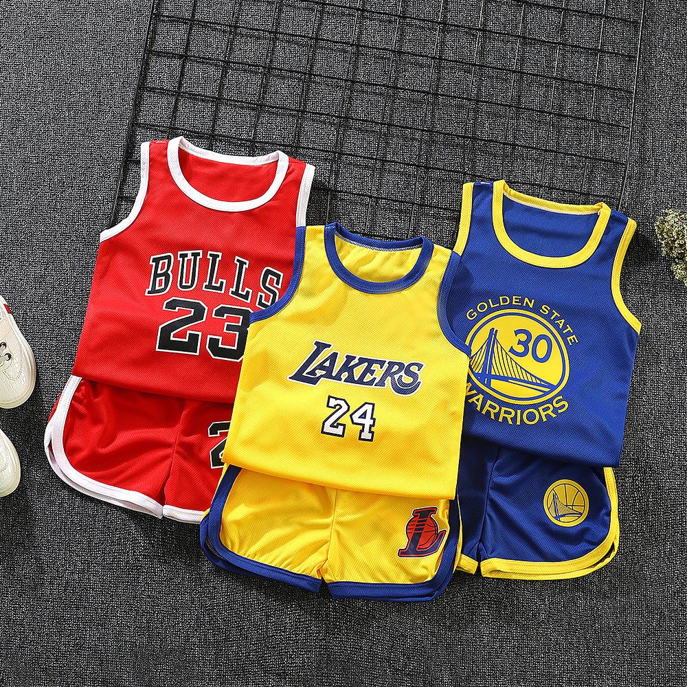 儿童夏款休闲运动短袖短裤套装男童女童篮球服夏季小学生表演服装