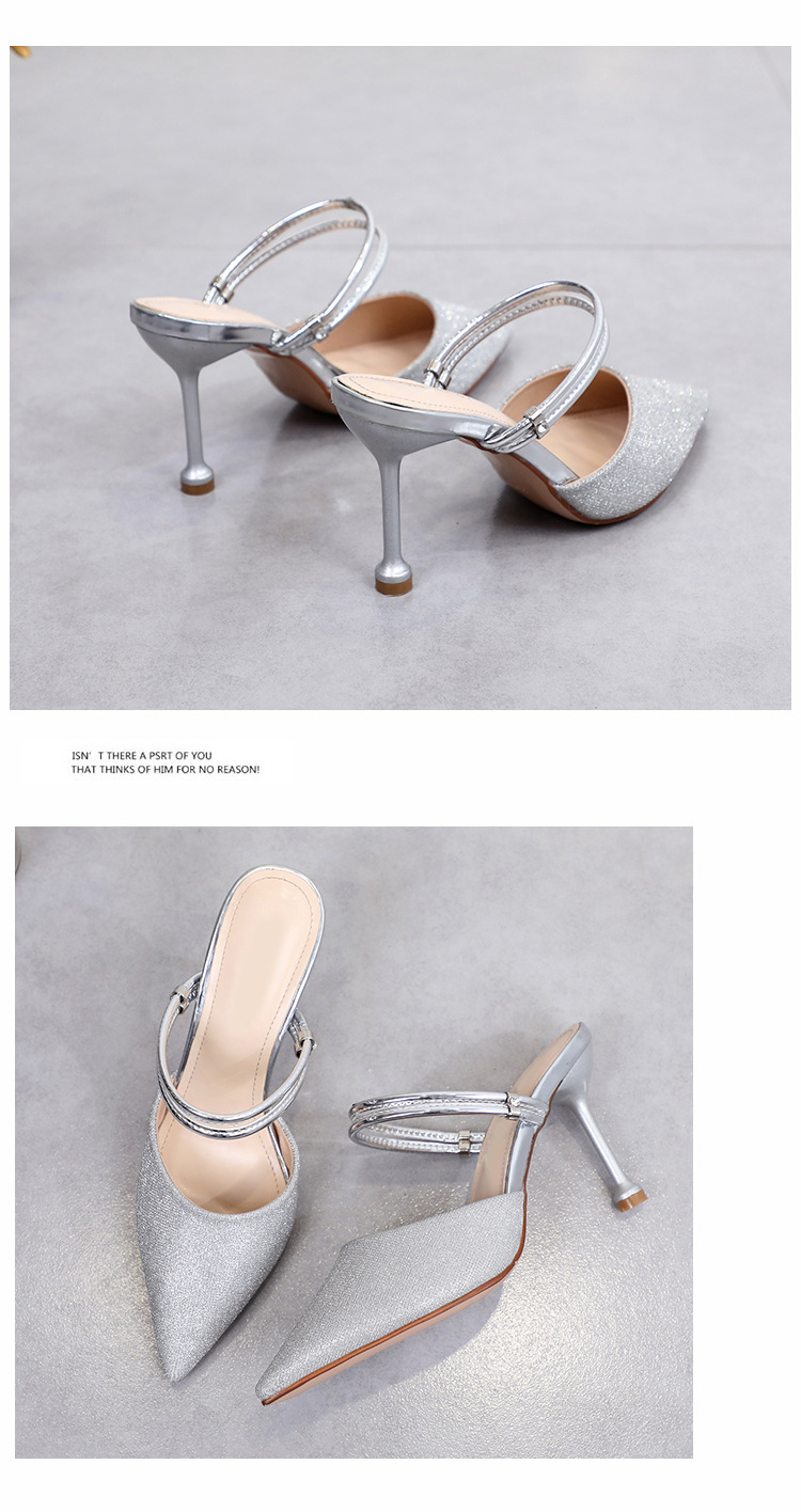 Summer new shoes, two high heels, stiletto heels, sandals, sexy women's shoes NHSO200276