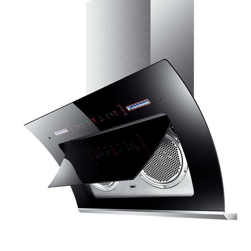 雪特价小型家用壁挂式吸抽油烟机双电机顶侧吸中式大吸力清洗