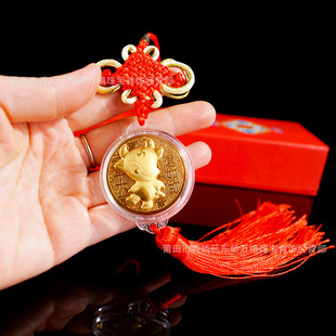 2021 year of the ox car hanger bully soaring commemorative coin car hanger gift bank insurance will sell business gift wholesale