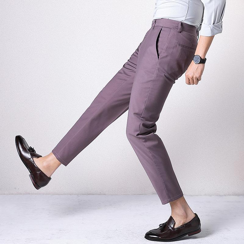 2021新款男式西裤商务韩版修身春秋季男士青年时尚薄款西裤男批发