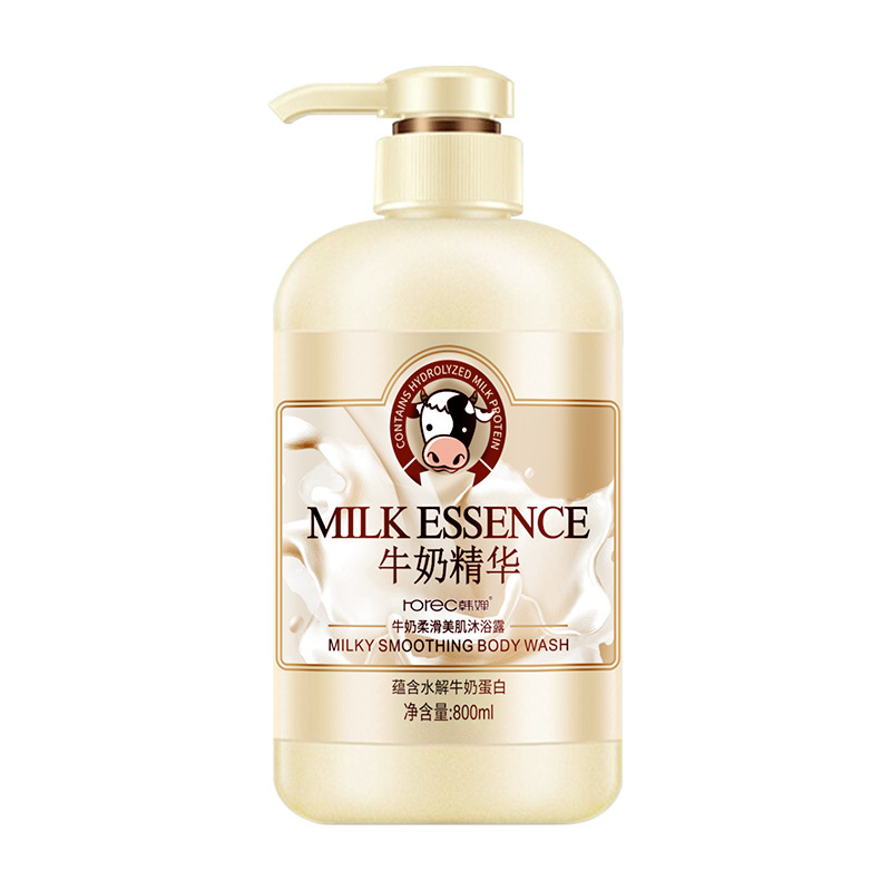 Han Chan Milk Smoothing Body Wash Moisturizing Nourishing Body Wash Rejuvenation Cleansing Bath Milk Wholesale