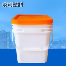 批发加厚塑料包装桶 油墨桶涂料乳胶漆胶水机油桶12升方桶